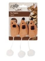 All For Paws Lambswool The Triplets Mouse