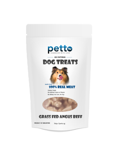 pettofood Dehydrated Grass Fed Angus Beef Dehydrated - Dog Treats 80g