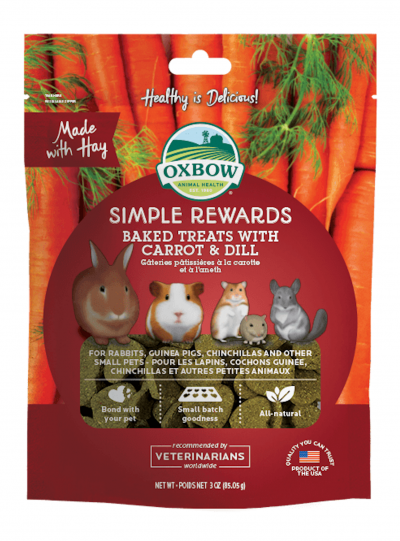 Oxbow Baked Treats With Carrot And Dill For Small Pet 3oz (85g)