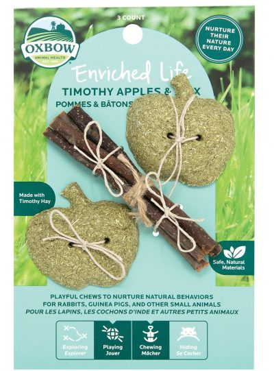 Oxbow Enriched Life Timothy Apples & Stix For Small Pets