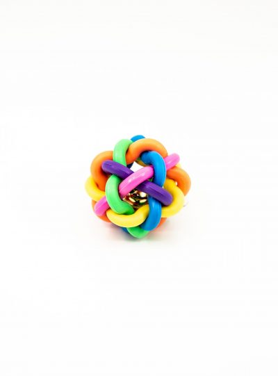 Small Rubber Textured Toy with bells - Dog Toys